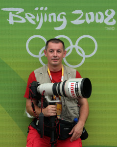 Beijing, 10.08.2008 - Me at Oylmpic Games in Beijing 2008. photo by Zeljko Lukunic. Canon EOS 1D Mark III, Canon EF 70-200mm f2.8 L USM 1/500 sec, f4.0, ISO 400 ASA