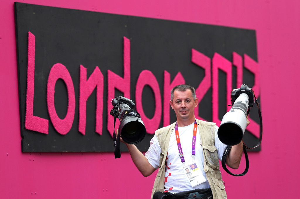 London, 30.07.2012 - Me with Canon and Nikon at Olympic Games in London 2012. photo Igor Kralj Canon EOS 1DX, Canon EF 300mm f2.8 L USM IS 1/1000 sec, f4.0, ISO 1000 ASA